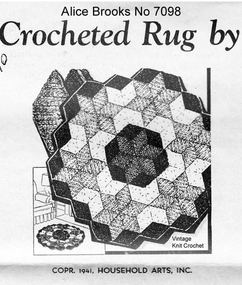 Geometric Crochet Rugs pattern, Mail Order 7098