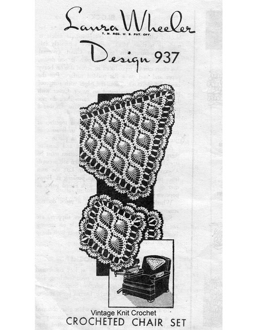 Pineapple Crochet Chair Set, Triangle, Mail order 937