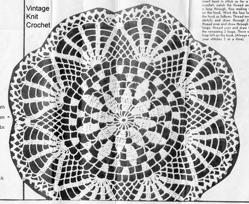Crochet Victory Doily Pattern, Mail Order 5605