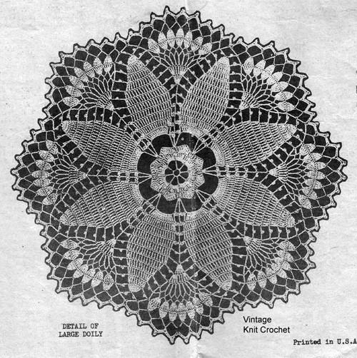 Crochet Flower Doily Illustration, Laura Wheeler 899