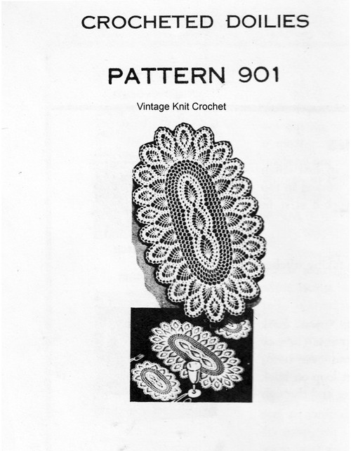 Large Oval Crochet Doily Pattern, Mail Order 901