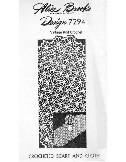 Crocheted Petal Stitch Cloth pattern, Mail Order 7294