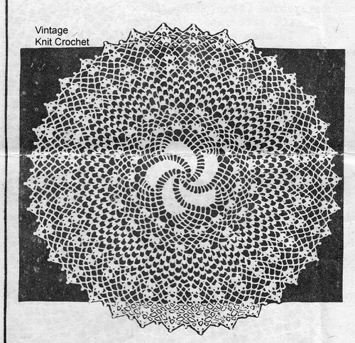 Cake Plate Doily Pattern, Anne Cabot 5764