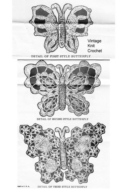 Crochet Butterfly Pattern Illustration, Alice Brooks 7334