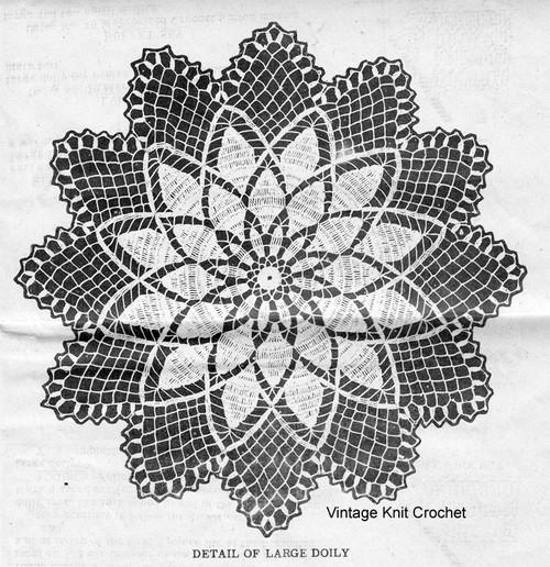 Large Chrysanthemum Doily Pattern Detail, Alice Brooks 7328