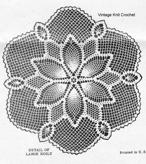 Crochet Pineapple Doily Illustration, Alice Brooks 7622