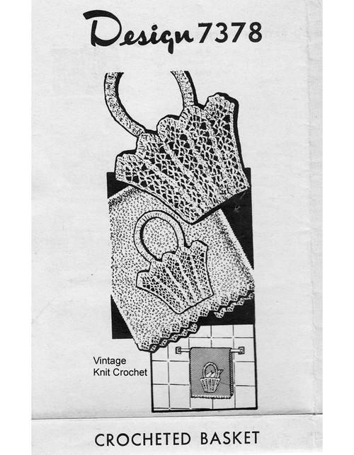 Crochet Basket Insertion Pattern, Alice Brooks 7378