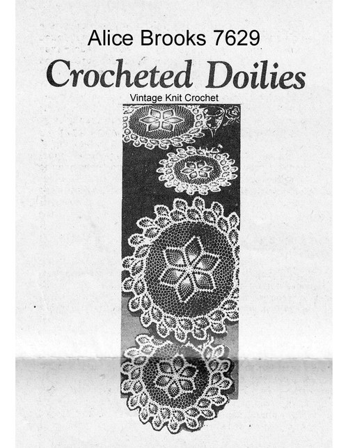 Crochet Doilies Pattern, Pineapple Border, Mail Order 7629
