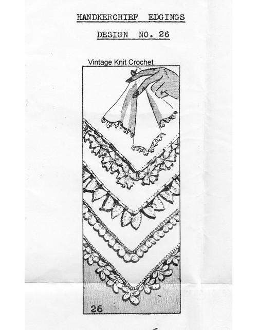 Vintage Crochet Heart Edgings Pattern