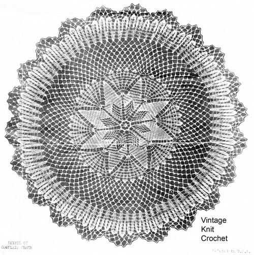 Star Cloth Pattern, Vintage Crochet Pattern Design 6084