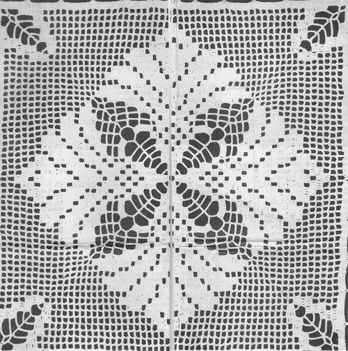 Doily Center Patter Stitch Detail, Martha Madison 270