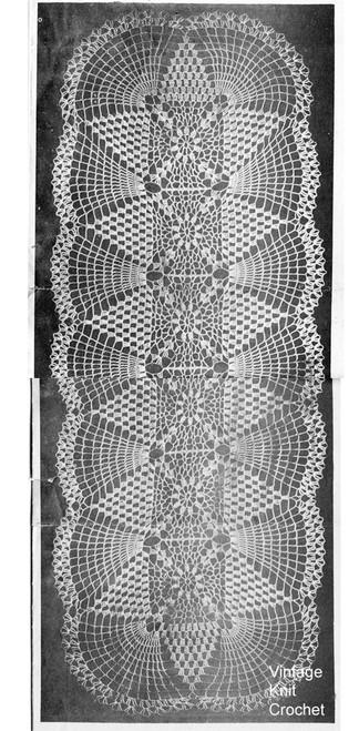 Crocheted Runner Scarf Pattern, Ellen Bruce E-883