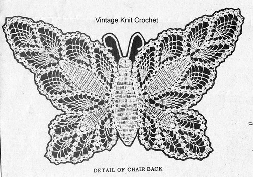 Crochet Butterfly Pattern Illustration for Alice Brooks 7274