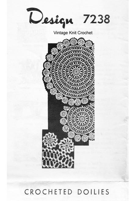 Rickrack Crochet Medallion Doily pattern, Design 7238