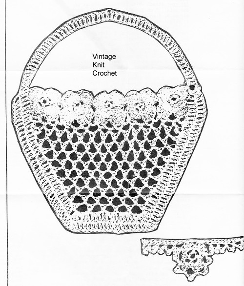 Crochet Basket Pattern Illustration, Anne Cabot 5717