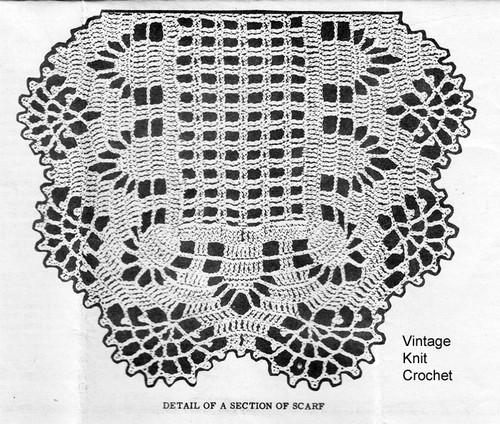 Pineapple Mat Crochet Pattern Illustration, Design 913