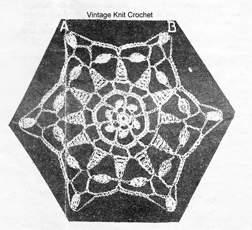 Star Medallion Crochet Pattern Detail, Laura Wheeler 1318