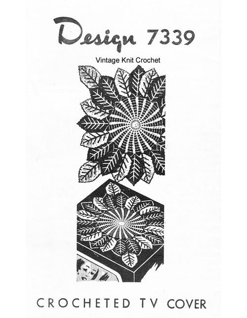 Leaf Centerpiece Doily Crochet Pattern, Mail Order 7339