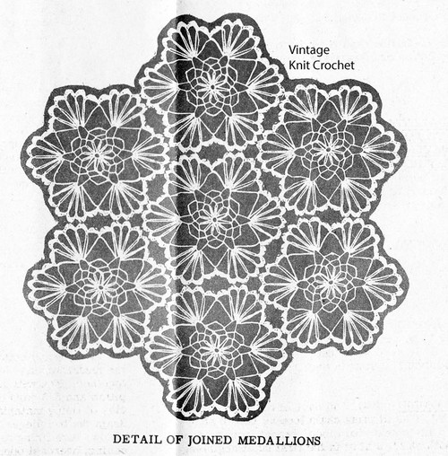 Hexagon Crochet Medallion Pattern, Mail Order 590