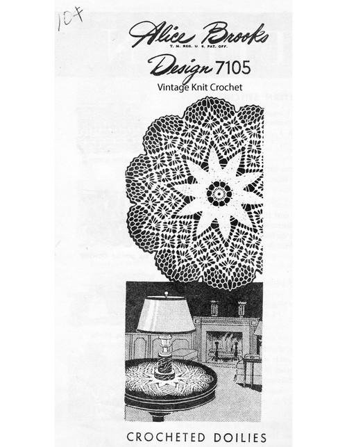 Crochet Spiderweb Luncheon Set Pattern, Mail Order Design 7105