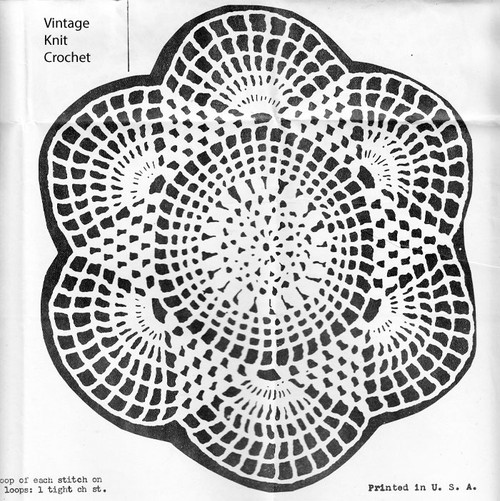 Crochet Six Point Star Doily Pattern, Design 1150