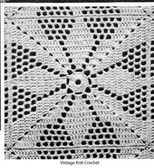 Vintage Crochet Vespar Block Pattern