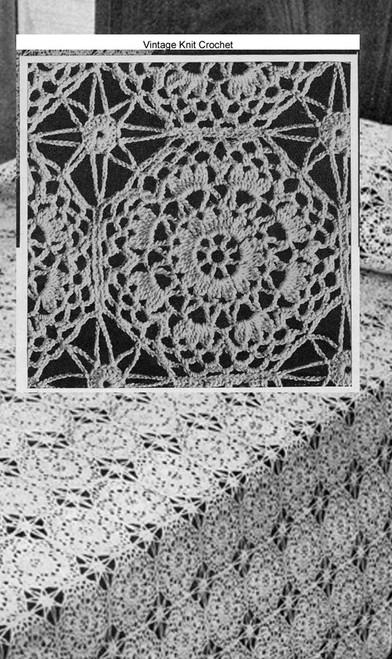 Georgiana Crochet Bedspread Pattern No 648