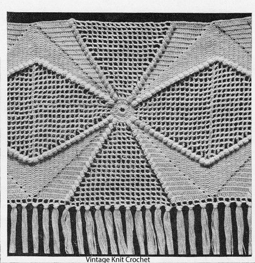 Popcorn Star Crochet Square Pattern, for Bedspread No 661