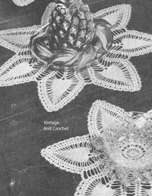 Vintage Crocheted Pineapple Mats Pattern