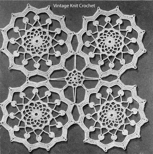 Small round medallion crochet pattern
