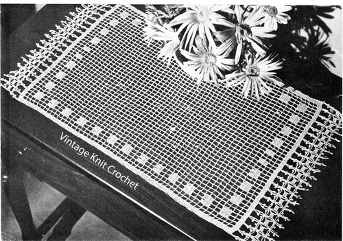 Vintage Victorian Mesh Crochet Runner Pattern