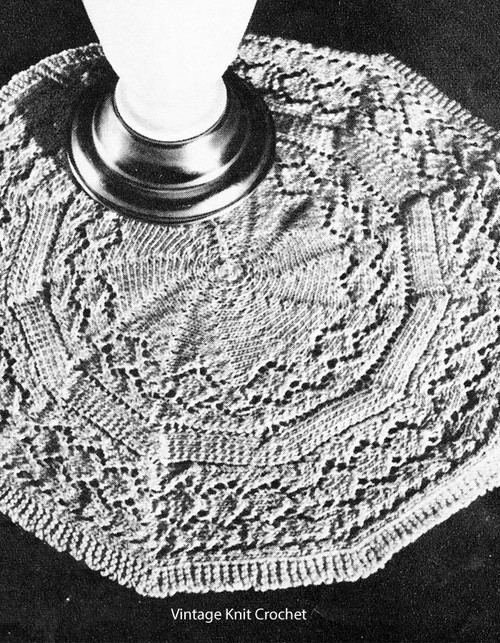 Knitted Doily pattern, 11 inches in diameter