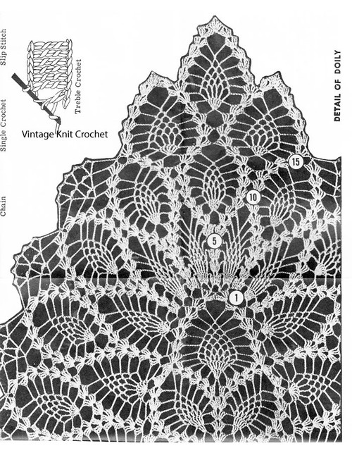 Pineapple Doily Illustration, Laura Wheeler 6792