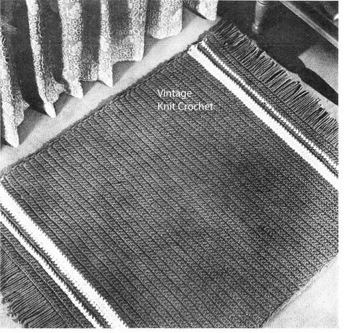 Crochet Rug Pattern for Beginners