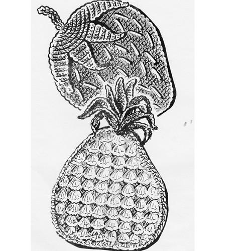 Crochet Strawberry Potholder Pattern, Anne Cabot 5075