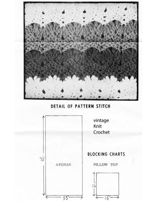 Crochet Stripe Pattern illustration; design 7143