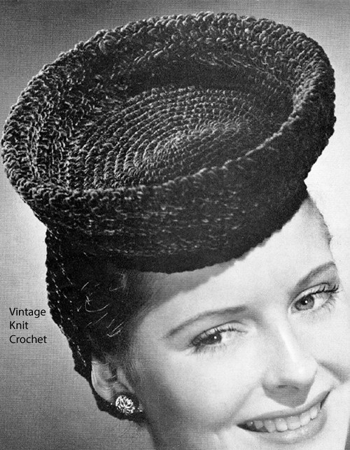 Breton Crochet Hat Pattern with Snood No 143