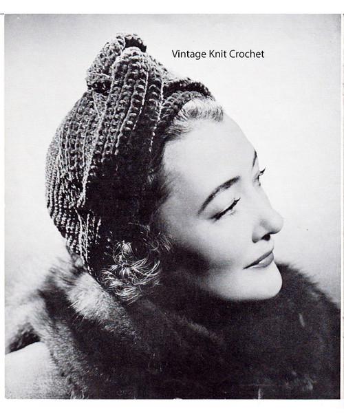 Knotted Turban Knit Crochet Pattern No 149