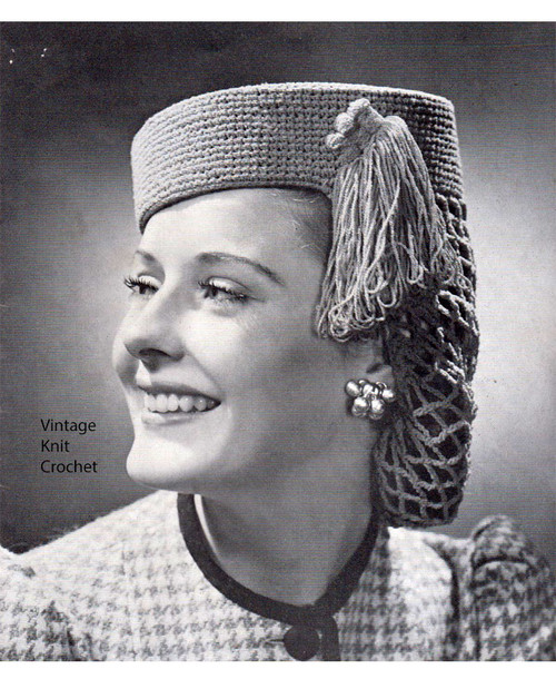 Snooded Pillbox Hat Pattern