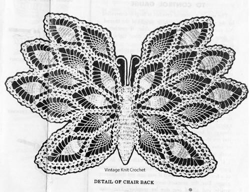 Crochet Butterfly Illustration for Pattern No 804
