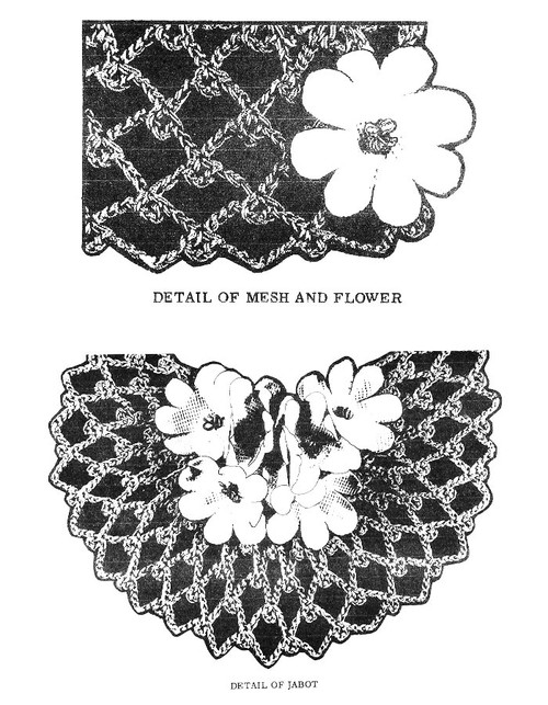 Crochet Jabot Pattern illustration, Laura Wheeler 570