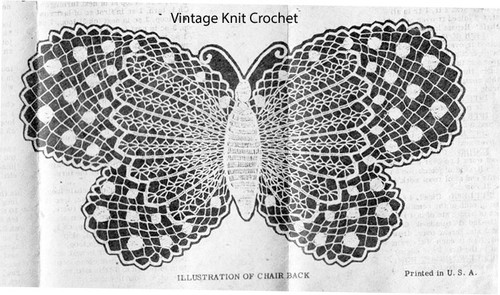 Lace Butterfly Crochet Pattern No 519