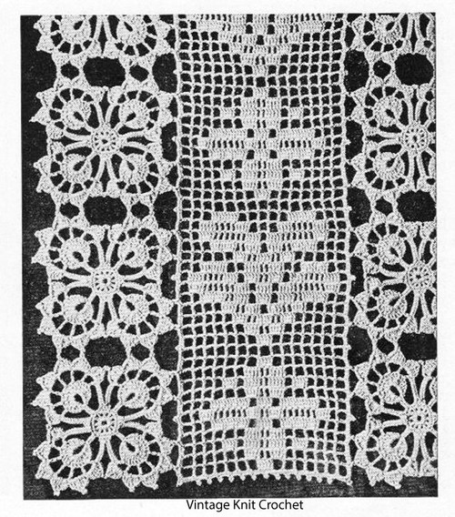 Vintage Flower Panel Crochet Bedspread Pattern
