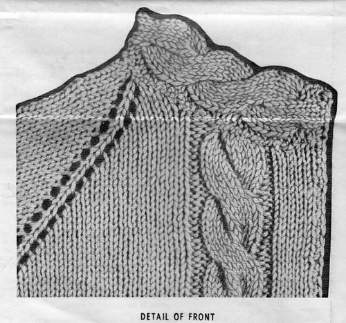Knitted Cable Jacket Illustration, Mail Order 869