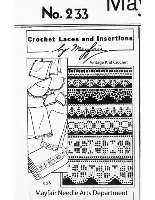 Vintage Crochet Lace Edgings Pattern No 233