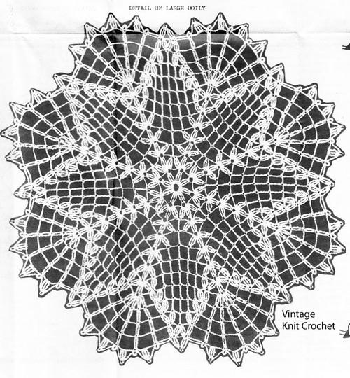 Large Star Doily Pattern Illustration, Design 2215
