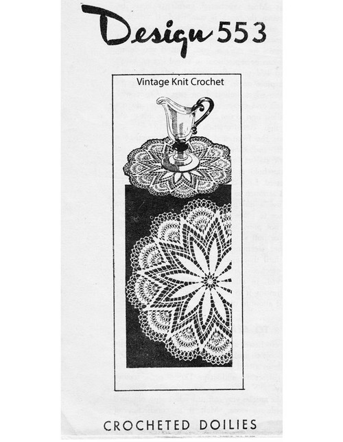 Crochet Centerpiece Star Doily Pattern Design 553
