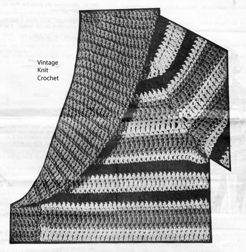 Shawl Collar Cardigan Crochet Pattern Illustration No 548