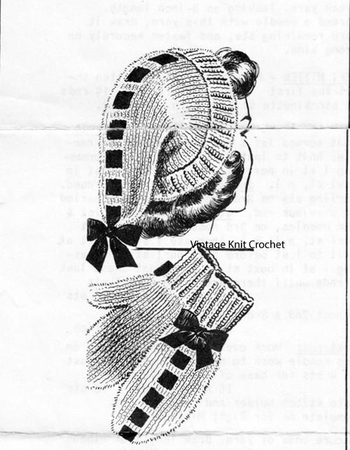 Vintage Stocking Cap Mittens pattern Set, Mail Order 5701