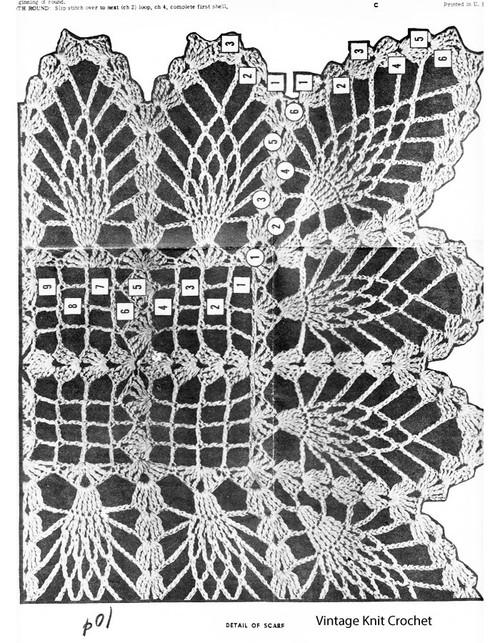 Pineapple Scarf Crochet pattern Stitch Illustration< Design 816